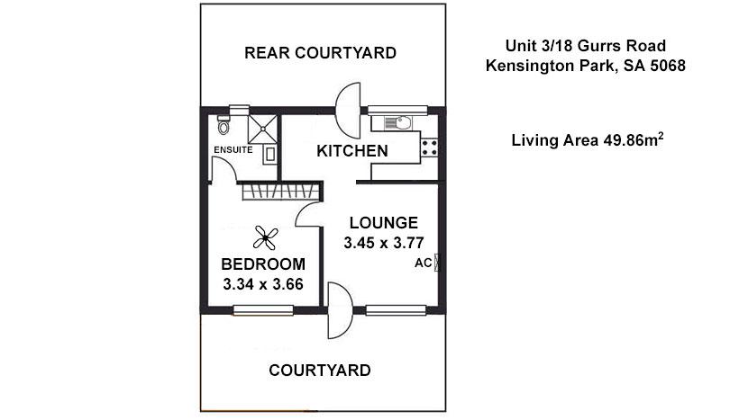 Floor Plan For Unit 3/18 Gurrs Road, Kensington Park
